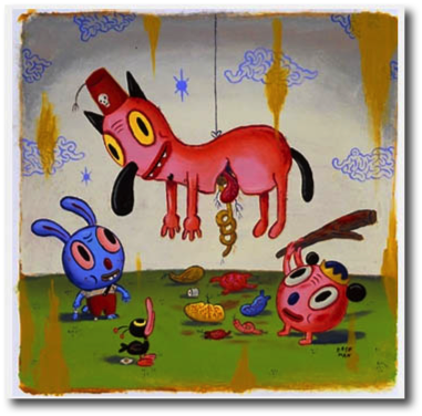 "I Am Your Piñata Gary Baseman, 2002 18"" x 18"""